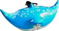 F09 Spotted Eagle Ray octopus holder